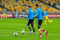Goalkeepers of Ukrainian national team Royalty Free Stock Images