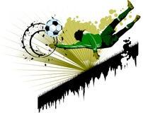 Goalkeeping in green Stock Photos