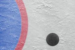 Goalmouth- och hockeypuck Royaltyfri Fotografi