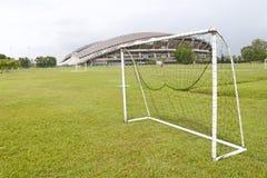goalpostfotboll royaltyfri fotografi