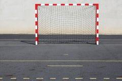 goalposts κόκκινο αστικό λευκό Στοκ Εικόνες