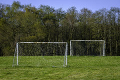 Goalposts ready for a kick around Royalty Free Stock Images