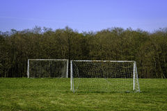 Goalposts ready for a kick around Stock Photography