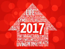 2017 Goals arrow health word cloud Royalty Free Stock Images