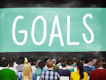 Goals Aspiration Achievement Inspiration Target Concept Royalty Free Stock Images