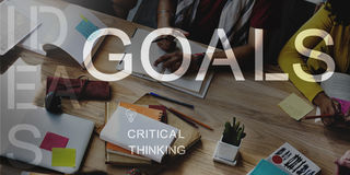 Goals Aspiration Target Vision Confidence Hopeful Concept royalty free stock images