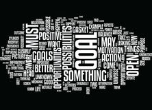 Goals Be Open To Possibility Word Cloud Concept. Goals Be Open To Possibility Text Background Word Cloud Concept Royalty Free Stock Photo