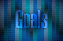 Goals and a binary background illustration Royalty Free Stock Images