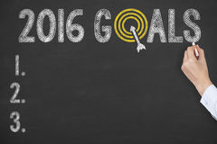 2016 Goals on Blackboard Royalty Free Stock Images
