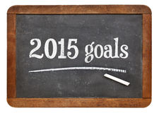 2015 goals on blackboard Stock Image
