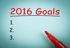 2016 Goals Royalty Free Stock Photos