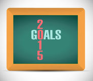 2015 goals board sign illustration design Royalty Free Stock Photography