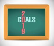 2019 goals board sign illustration design Stock Image