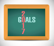 2017 goals board sign illustration design Stock Images