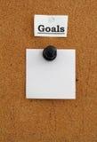 Goals bulletin board Stock Photography