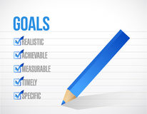 Goals check mark list illustration design Stock Images