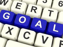 Goals Computer Keys Showing Objectives Hope And Future Royalty Free Stock Photo