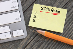 Goals for 2016 Stock Photo