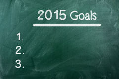 Goals For 2015 Royalty Free Stock Photo