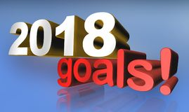 2018 goals Stock Images