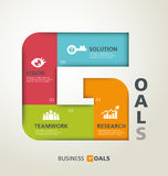 Goals concept Royalty Free Stock Photo