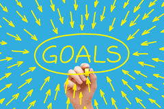Goals Concept Yellow stock photos