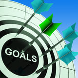 Goals On Dartboard Showing Future Plans Stock Photos