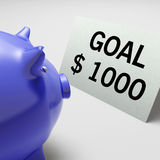 Goals Dollars Shows Aim Target And Plan Royalty Free Stock Photos