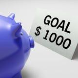 Goals Dollars Shows Aim Target And Plan Royalty Free Stock Photos