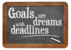 Goals are dreams with deadlines royalty free stock image