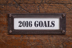 2016 goals - file cabinet label Stock Images