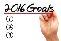 Goals. Hand writing 2016 Goals with marker, business concept Stock Photography