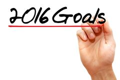 Goals. Hand writing 2016 Goals with marker, business concept Stock Photo
