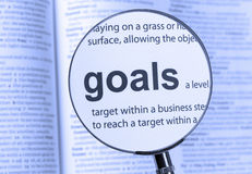 Goals Royalty Free Stock Photo