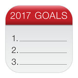 2017 goals icon Royalty Free Stock Photography