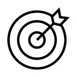 Goals icon with outline style. Vector illustration royalty free illustration