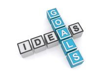 Goals and ideas concept Royalty Free Stock Photos