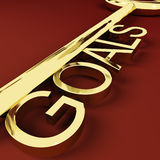 Goals Key Representing Aspirations And Intent Royalty Free Stock Photography