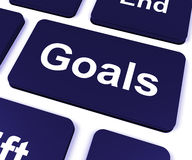 Goals Key Shows Aims Objectives Or Aspirations. Goals Key Showing Aims Objectives Or Aspirations vector illustration