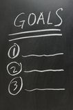Goals list Royalty Free Stock Photography