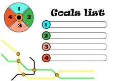 Goals list Stock Photography