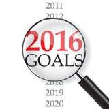 2016 Goals. & Magnifer on white background Royalty Free Illustration