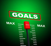 Goals Max Indicates Upper Limit And Ceiling Stock Image