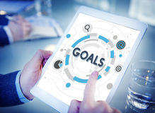 Goals Mission Target Hud Aspiration Concept. People Have Goals Mission Target Hud Aspiration Stock Images