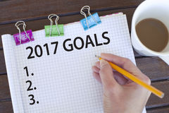 Goals for new year 2017 concept Stock Photos