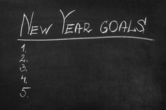 Goals For New Year Royalty Free Stock Photos