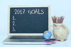 Goals for new year 2017 list concept Stock Photo