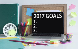 Goals for new year 2017 list concept Royalty Free Stock Photography