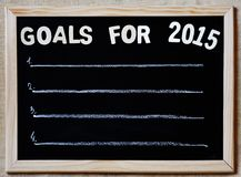 Goals for 2015 - new year plans concept. Goals for 2015 on blackboard - new year plans concept Royalty Free Stock Images