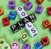 Goals Plan. Puzzle words concept Stock Images